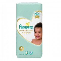Pack 34 Couches Pampers New Baby Premium Care taille 4 sur Promo Couches