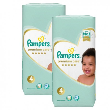 Mega pack 102 Couches Pampers New Baby Premium Care taille 4 sur Promo Couches