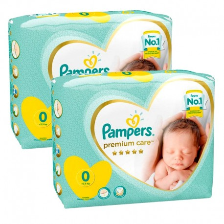 Pack 60 Couches Pampers New Baby Premium Care taille 0 sur Promo Couches