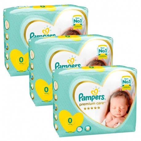 Mega Pack 90 Couches Pampers New Baby Premium Care taille 0 sur Promo Couches