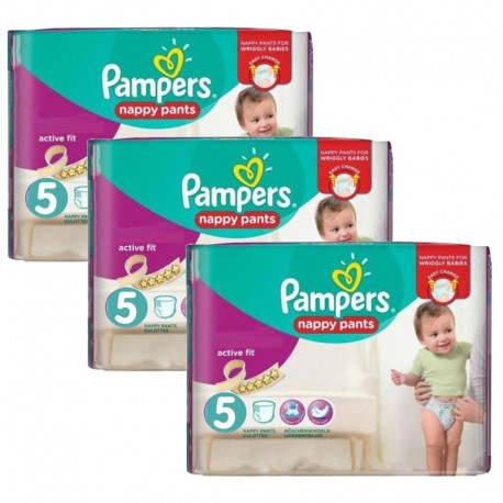 Mega Pack 120 Couches Pampers Active Fit Pants taille 5 sur Promo Couches