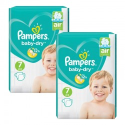 Maxi Giga Pack 144 couches Pampers Baby Dry sur Promo Couches