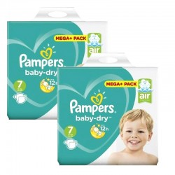 Giga Pack 116 Couches Pampers Baby Dry taille 7 sur Promo Couches