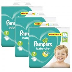 Mega Pack 174 couches Pampers Baby Dry sur Promo Couches