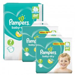 Maxi Mega Pack 232 couches Pampers Baby Dry sur Promo Couches