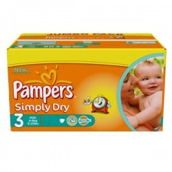 Pack 45 couches Pampers Simply Dry