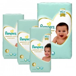 Giga pack 238 Couches Pampers New Baby Premium Care taille 4
