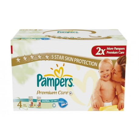 Giga pack 272 Couches Pampers New Baby Premium Care taille 4 sur Promo Couches
