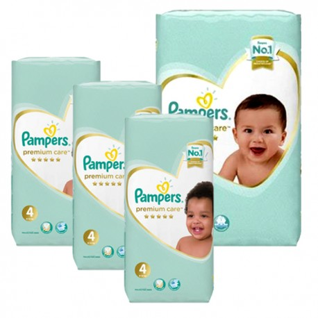 Maxi giga pack 374 Couches Pampers New Baby Premium Care taille 4 sur Promo Couches