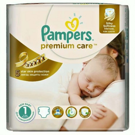 Pack 88 Couches Pampers Premium Care taille 1 sur Promo Couches