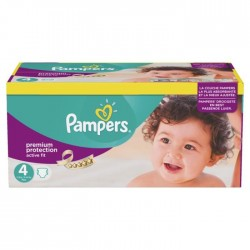 Pack 168 Couches Pampers de la gamme Active Fit taille 4 sur Promo Couches