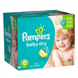 Maxi mega pack 468 Couches Pampers Baby Dry taille 6
