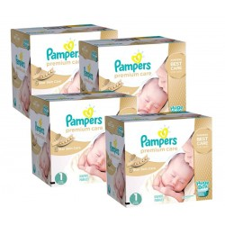 Pack jumeaux 616 Couches Pampers Premium Care taille 1 sur Promo Couches