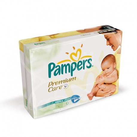 Pack jumeaux 704 Couches Pampers Premium Care taille 1 sur Promo Couches