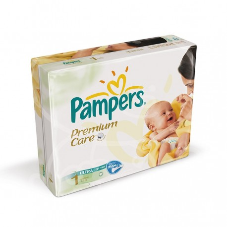 Pack jumeaux 792 Couches Pampers Premium Care taille 1 sur Promo Couches
