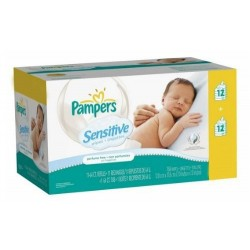 Maxi Pack 288 Lingettes Bébés de la marque Pampers Sensitive - 24 Packs de 12