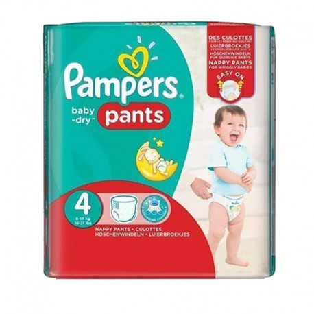 Pack 29 Couches Pampers Baby Dry Pants taille 4 sur Promo Couches
