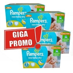 Maxi mega pack 430 Couches Pampers New Baby Dry