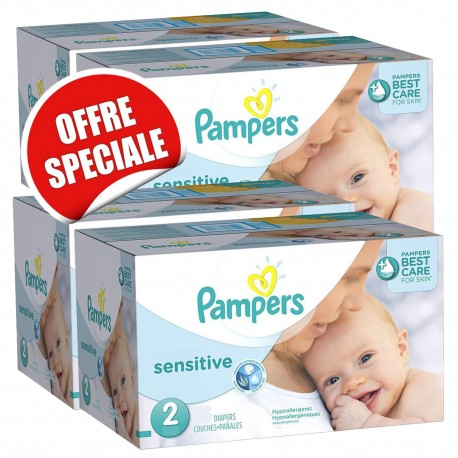 Maxi giga pack 300 Couches Pampers New Baby Sensitive sur Promo Couches