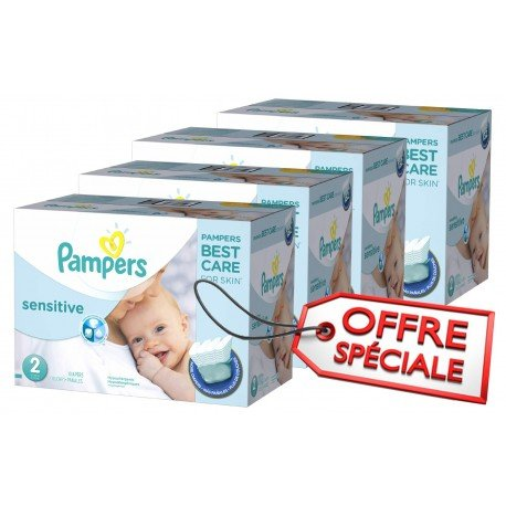 Maxi mega pack 480 Couches Pampers New Baby Sensitive sur Promo Couches