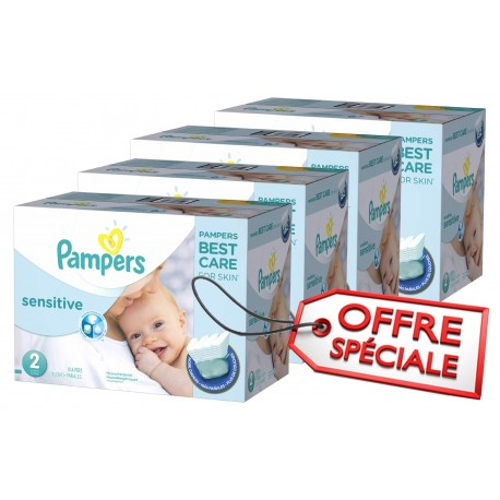 Pack jumeaux 600 Couches Pampers New Baby Sensitive sur Promo Couches