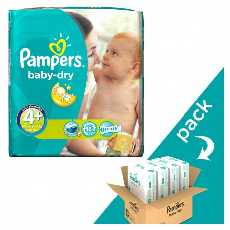 Giga pack 246 Couches Pampers Baby Dry taille 4+ sur Promo Couches