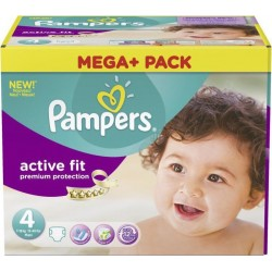 Mega pack 164 Couches Pampers Active Fit Premium Protection taille 4