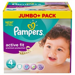 Giga pack 246 Couches Pampers Active Fit Premium Protection taille 4