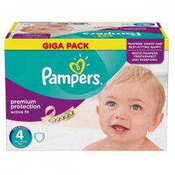 Maxi giga pack 328 Couches Pampers Active Fit Premium Protection taille 4