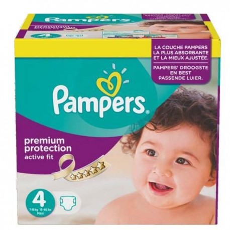 Maxi mega pack 410 Couches Pampers Active Fit Premium Protection taille 4 sur Promo Couches