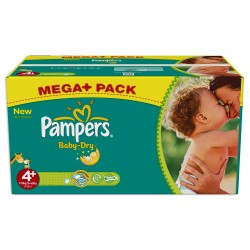 Giga pack 287 Couches Pampers Baby Dry taille 4+ sur Promo Couches