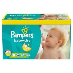 Maxi giga pack 369 Couches Pampers Baby Dry taille 4+