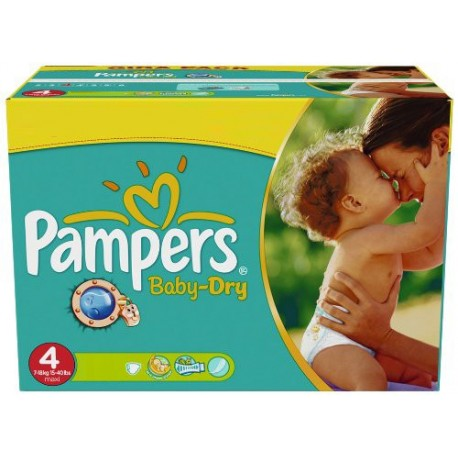 Mega pack 176 Couches Pampers Baby Dry taille 4 sur Promo Couches