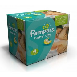 Maxi giga pack 308 Couches Pampers Baby Dry taille 4