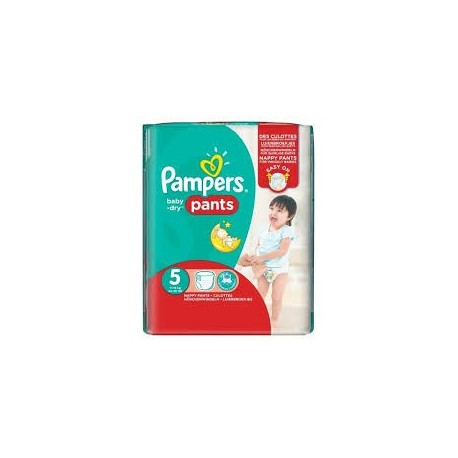 Pack 26 Couches Pampers Baby Dry Pants taille 5 sur Promo Couches