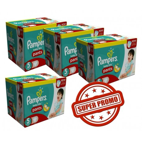 Mega pack 182 Couches Pampers Baby Dry Pants taille 5 sur Promo Couches