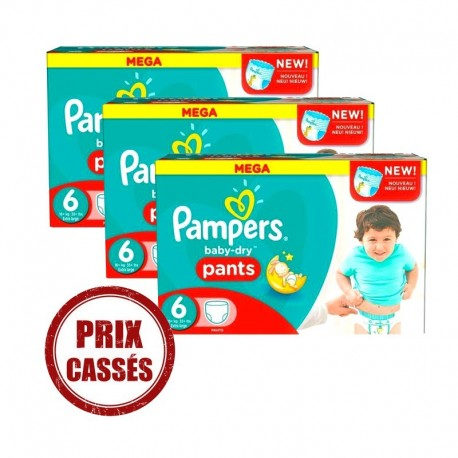 Mega pack 161 Couches Pampers Baby Dry Pants taille 6 sur Promo Couches
