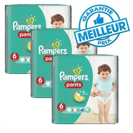 Mega pack 184 Couches Pampers Baby Dry Pants taille 6 sur Promo Couches