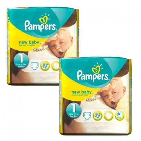Maxi mega pack 480 Couches Pampers New Baby Premium Protection taille 1 sur Promo Couches