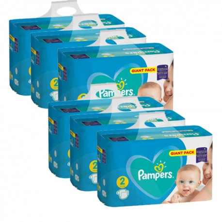 Mega pack 188 Couches Pampers Active Baby Dry taille 2 sur Promo Couches