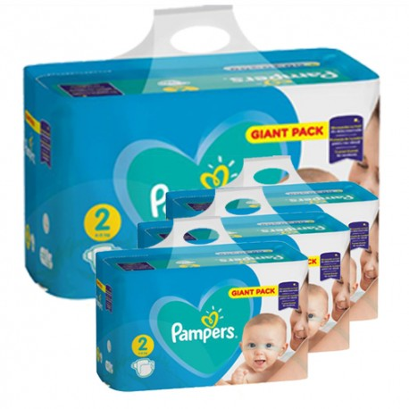Maxi giga pack 376 Couches Pampers Active Baby Dry taille 2 sur Promo Couches