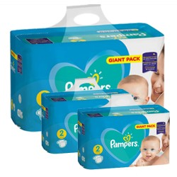 Pack jumeaux 564 Couches Pampers Active Baby Dry taille 2 sur Promo Couches