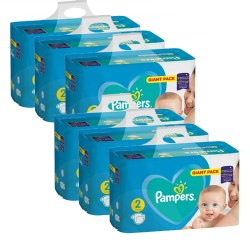 Pack jumeaux 658 Couches Pampers Active Baby Dry taille 2 sur Promo Couches