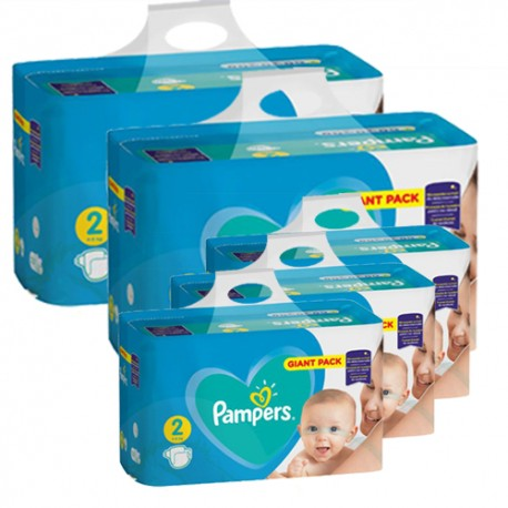 Pack jumeaux 940 Couches Pampers Active Baby Dry taille 2 sur Promo Couches