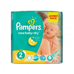 Mega pack 144 Couches Pampers New Baby Dry taille 2 sur Promo Couches