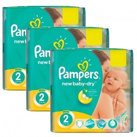 Pack jumeaux 1008 Couches Pampers New Baby Dry taille 2 sur Promo Couches