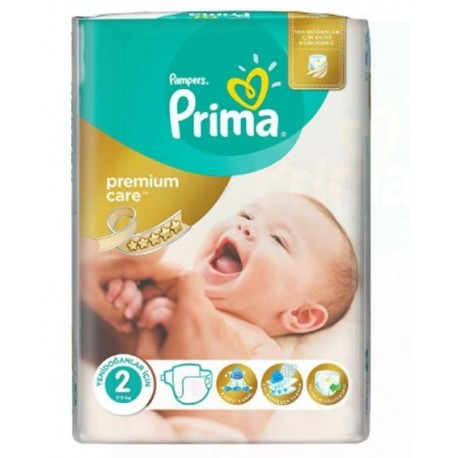 Pack 80 Couches Pampers New Baby Premium Care taille 2 sur Promo Couches