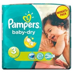 Mega pack 116 Couches Pampers Baby Dry taille 3