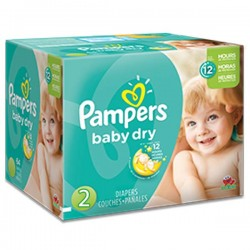 Mega pack 116 Couches Pampers Baby Dry taille 2 sur Promo Couches