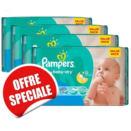 Mega pack 120 Couches Pampers Active Baby Dry taille 3 sur Promo Couches
